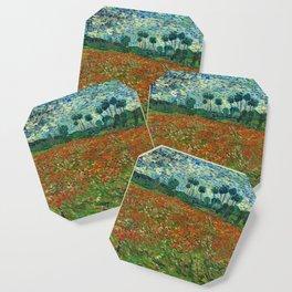Vincent Van Gogh Poppy Field Coaster