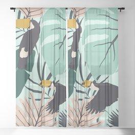 Tropical Summer Sheer Curtain
