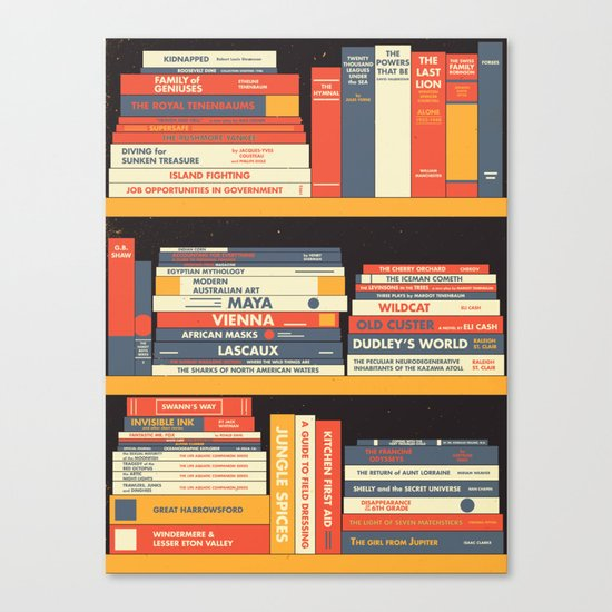 W.A. Library Canvas Print