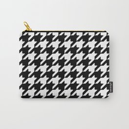Black and white houndstooth pattern Carry-All Pouch