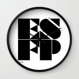 Type Type for ESFP Wall Clock