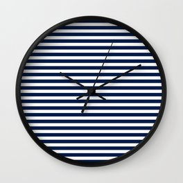 Striped Navy Blue Wall Clock