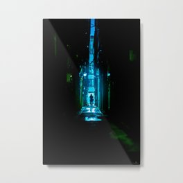 Replicant in the Rain Metal Print