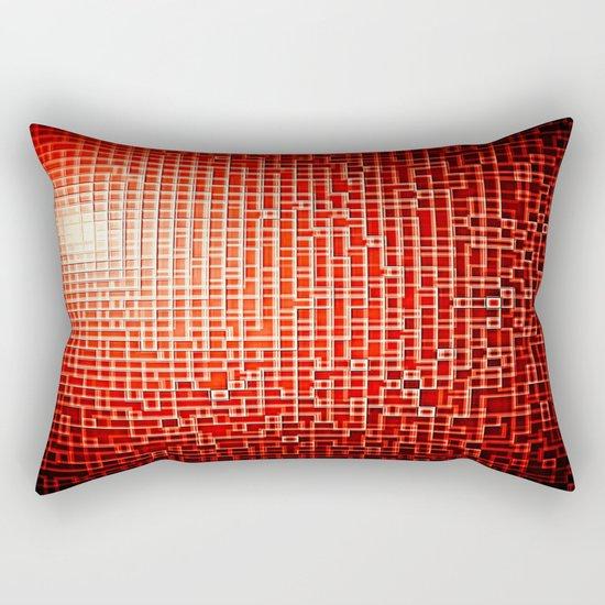 Red Space Pixels Rectangular Pillow