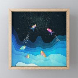 Come to reach the stars Framed Mini Art Print