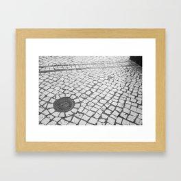 Macau Cobblestone Framed Art Print
