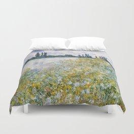 """Claude Monet """"Île aux Fleurs near Vétheuil"""" Duvet Cover"""