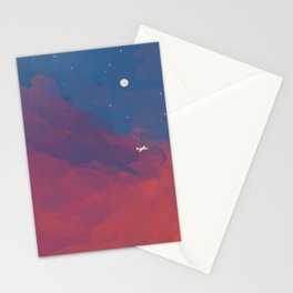 A Lone Flight Amongst The Pastel Unknown. Stationery Cards