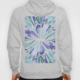 Symmetrical drops - purple and turquoise Hoody