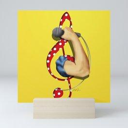 Girls Music and Power Mini Art Print