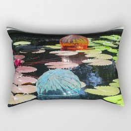 Lily Pond and Glass Floaters Rectangular Pillow