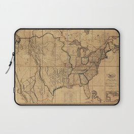 Map of the United States by John Melish (1818) 3rd State Laptop Sleeve