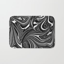 Black White Grey Marble Bath Mat