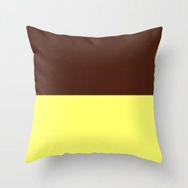 Choc Custard Throw Pillow