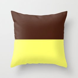 Choc Custard Throw Pillow