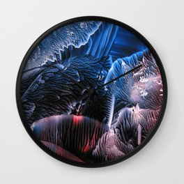 Abstract Midnight Blue Red Wall Clock