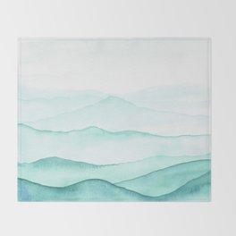 Mint Mountains Throw Blanket