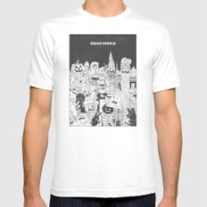 Squad Ghouls White MEDIUM Mens Fitted Tee