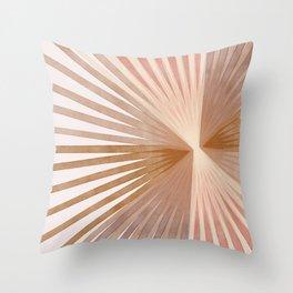 Warm Burst Modern Art Print Throw Pillow