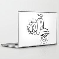 vespa Laptop & iPad Skins featuring Vespa by tuditees