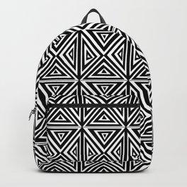 Symetric triangle 5 -vichy, gingham,strip,triangle,geometric, sober,tartan,mandala Backpack