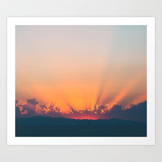 Sunrise x Sunset Art Print