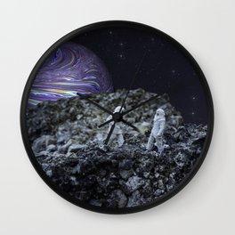 Men On The Moon Wall Clock