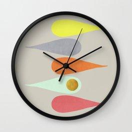 Vintage minimal improvisation 3 Wall Clock