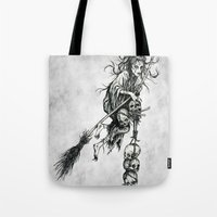 witch Tote Bags featuring Witch by Elias Aquino