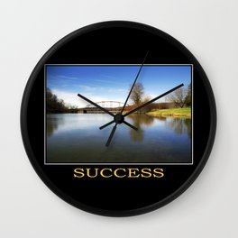 Inspirational Success Wall Clock