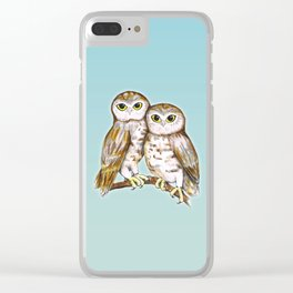 Two cute owls Clear iPhone Case
