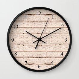 Quaint beige decorative zigzag texture Wall Clock