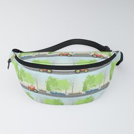 Cars and trees pattern Fanny Pack