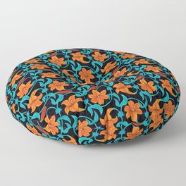 Pattern with lilies Floor Pillow