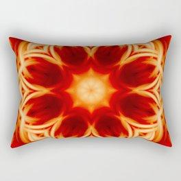 Fire Lotus Mandala Rectangular Pillow
