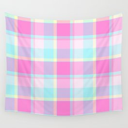 Summer Plaid Wall Tapestry
