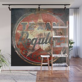 Texan - Vintage Label Wall Mural