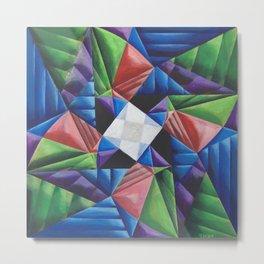 Square Pinwheel Metal Print