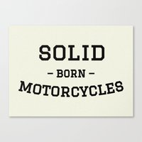 solid Canvas Prints featuring Solid by Born Motor Co.