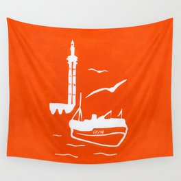 Home in Orange Wall Tapestry