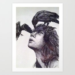 Thought, memory and dream  Art Print