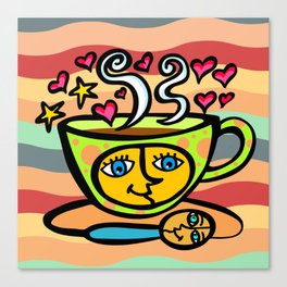 COFFEE CUP AND SPOON Canvas Print
