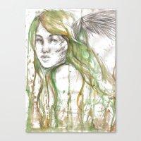 fairies Canvas Prints featuring Fairies by Alex Schol