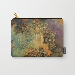 Flower Of Life Batik Carry-All Pouch