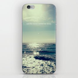 and the waves carried her away iPhone Skin