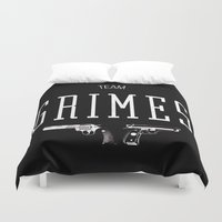 grimes Duvet Covers featuring Team Grimes by Dorothy Leigh