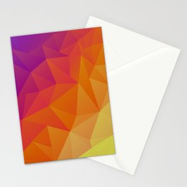 Low poly multi-color design Stationery Cards