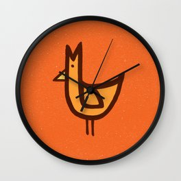 Chicken Print Wall Clock