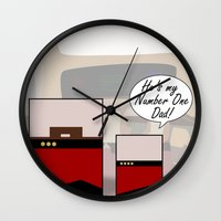 """picard Wall Clocks featuring """"Number One Dad"""" Minimalist Star Trek TNG The Next Generation Picard startrek Fathers Day Father's  by Trektangles"""