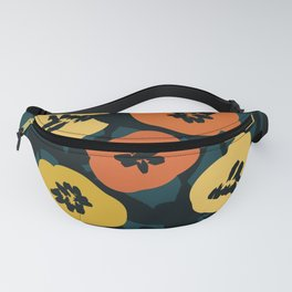 Midnight Flowers Fanny Pack
